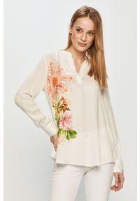 Biała bluzka Desigual casualowa, długa