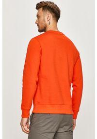 Pomarańczowa bluza nierozpinana Calvin Klein Jeans bez kaptura, na co dzień