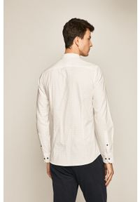 Biała koszula medicine z klasycznym kołnierzykiem, długa
