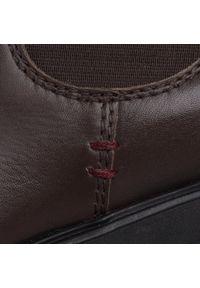 Brązowe buty zimowe Sergio Bardi casualowe, z cholewką, na co dzień