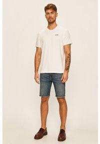 Biały t-shirt Levi's® biznesowy, z aplikacjami, na spotkanie biznesowe #6