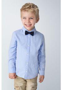 Niebieska koszula Mayoral długa, elegancka, na co dzień