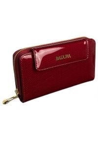 Portfel damski czerwony Badura B-8808P-SBR RED. Kolor: czerwony. Materiał: skóra