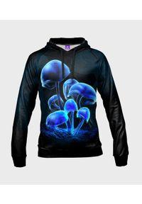MegaKoszulki - Bluza damska fullprint z kapturem Mysterious Mushrooms. Typ kołnierza: kaptur. Materiał: dresówka, dzianina
