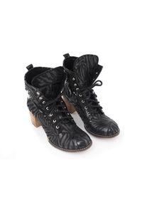 Czarne botki Zapato na zimę, eleganckie