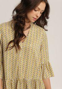 Renee - Żółta Sukienka Abanope. Kolor: żółty