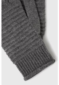 Sisley - Rękawiczki z domieszką kaszmiru. Kolor: szary. Materiał: kaszmir. Wzór: melanż