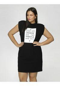 Madnezz - Sukienka T-shirt - Tequila and salt. Okazja: na imprezę. Materiał: wiskoza, elastan. Wzór: nadruk