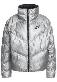Srebrna kurtka puchowa Nike