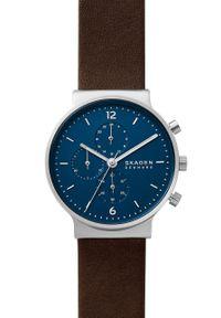Skagen - Zegarek SKW6765. Kolor: srebrny. Materiał: skóra, materiał