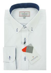 Elegancka koszula Victorio w kolorowe wzory, ze stójką, długa, z długim rękawem
