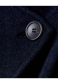 ISABEL MARANT - Wełniany płaszcz z kaszmirem. Kolor: niebieski. Materiał: wełna, kaszmir. Długość rękawa: długi rękaw. Długość: długie. Sezon: jesień