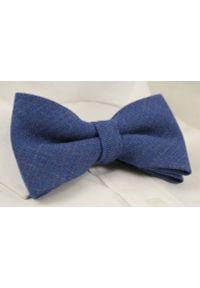 Niebieska muszka EM Men's Accessories melanż, elegancka