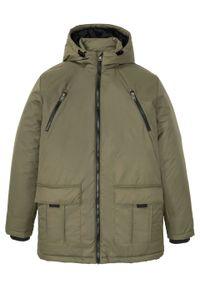 Zielona kurtka bonprix na zimę, z kapturem