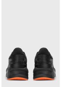 Czarne sneakersy Kazar Studio na sznurówki, z cholewką
