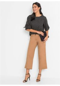 Beżowe spodnie bonprix eleganckie