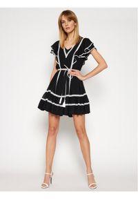 Czarna sukienka TwinSet na co dzień, prosta