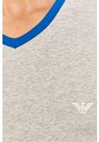 Szary t-shirt Emporio Armani casualowy, na co dzień, z nadrukiem