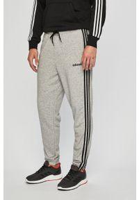 Adidas - adidas Performance - Spodnie. Okazja: na co dzień. Kolor: szary. Materiał: dzianina. Styl: casual
