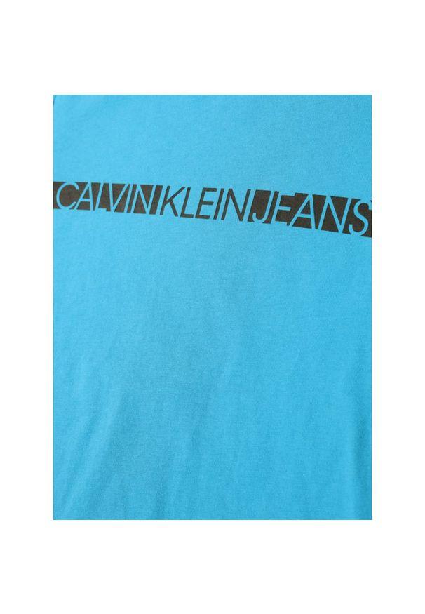 Niebieski t-shirt Calvin Klein Jeans