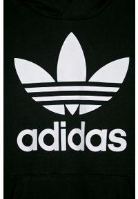 Czarna bluza adidas Originals casualowa, z nadrukiem, z kapturem