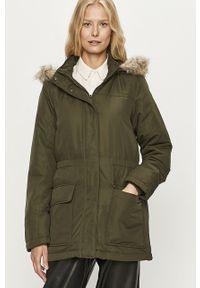 Zielona kurtka Jacqueline de Yong casualowa, z kapturem