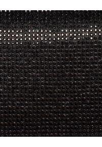 RENE CAOVILLA - Kryształowa kopertówka Celebrita. Kolor: czarny. Styl: wizytowy