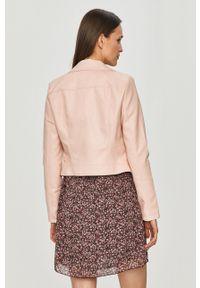 Różowa kurtka only casualowa, bez kaptura, na co dzień