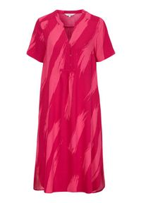 Cellbes Sukienka we wzory różowy we wzory female różowy/ze wzorem 38/40. Typ kołnierza: dekolt w serek, kołnierzyk stójkowy. Kolor: różowy. Materiał: tkanina, materiał. Styl: elegancki