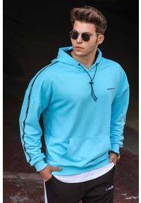 IVET - Bluza męska GABRIEL SKY. Okazja: na co dzień. Typ kołnierza: kaptur. Kolor: niebieski. Materiał: bawełna. Styl: casual