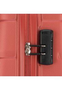 Czerwona walizka Wittchen w kolorowe wzory, klasyczna