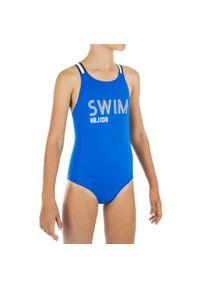 NABAIJI - Strój Jednoczęściowy Pływacki Vega Swim Dla Dzieci. Kolor: niebieski. Materiał: poliamid, materiał, elastan