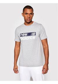 New Balance T-Shirt Classic Core Graphic MT03917 Szary Athletic Fit. Kolor: szary