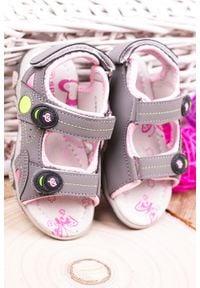 Casu - szare sandały na rzepy casu cs9002. Zapięcie: rzepy. Kolor: szary
