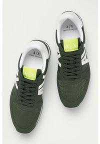 Armani Exchange - Buty. Nosek buta: okrągły. Zapięcie: sznurówki. Kolor: zielony. Materiał: guma