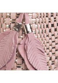 Różowe klapki Eva Minge casualowe, na co dzień, z aplikacjami