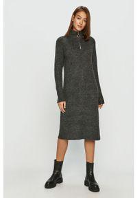 Szara sukienka Noisy may z długim rękawem, na co dzień, prosta #5