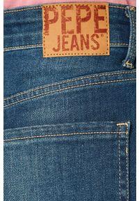 Niebieskie szorty Pepe Jeans na co dzień, casualowe, z podwyższonym stanem