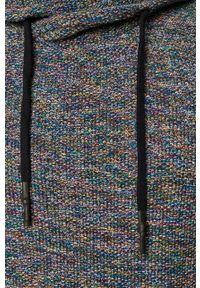 Niebieski sweter medicine z golfem, na co dzień, melanż, casualowy