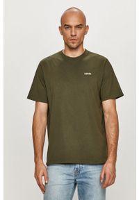 Zielony t-shirt Levi's® na spotkanie biznesowe, biznesowy