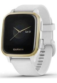 GARMIN - Zegarek sportowy Garmin Venu Sq Biały (010-02427-11). Kolor: biały. Styl: sportowy