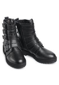 Czarne buty trekkingowe MEXX klasyczne, z cholewką