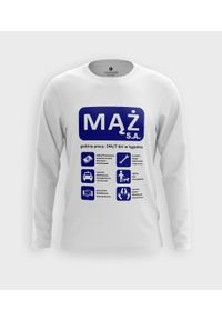MegaKoszulki - Koszulka męska z dł. rękawem Mąż. Materiał: bawełna