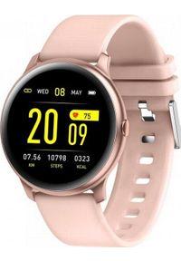 Różowy zegarek Maxcom smartwatch