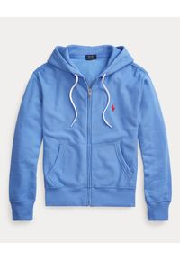 Ralph Lauren - RALPH LAUREN - Niebieska bluza z kapturem. Typ kołnierza: kaptur. Kolor: niebieski. Materiał: polar. Wzór: haft #5