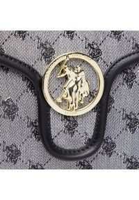 U.S. Polo Assn - Torebka U.S. POLO ASSN. - Lady Lake Handle Flap Bag BEUKG5227WJP000 Jacquard/Pu Black. Kolor: szary. Materiał: skórzane. Styl: casual, klasyczny, elegancki
