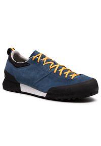Niebieskie buty trekkingowe Scarpa trekkingowe, z cholewką