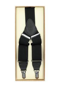 Lancerto - Szelki Czarne. Kolor: czarny. Materiał: syntetyk, skóra, materiał, elastan