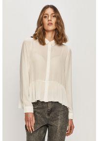 Biała koszula only z klasycznym kołnierzykiem, na co dzień, klasyczna