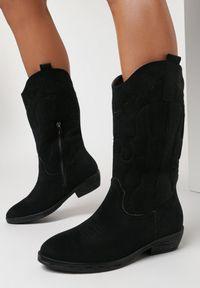 Born2be - Czarne Botki Xirone. Nosek buta: okrągły. Zapięcie: zamek. Kolor: czarny. Szerokość cholewki: normalna